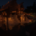 Billund - Mittelalter - Sägewerk (Nacht)